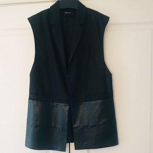 Lafayette 148 New York Black Vest, Size Medium